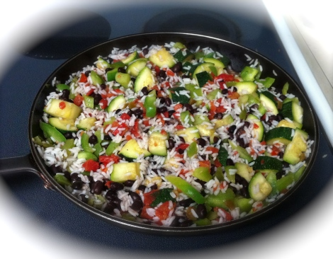 Black Beans and Zucchini